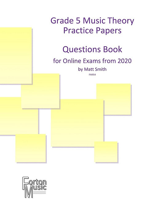 Grade 5 Music Theory Practice Papers x6 by Matt Smith - PDF VERSION