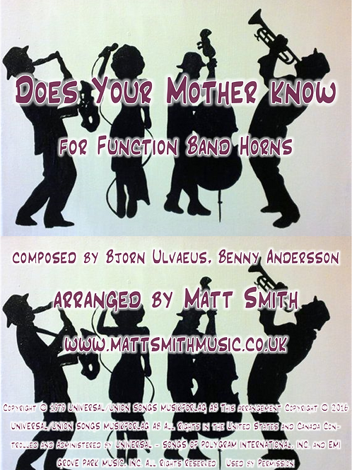 Does Your Mother Know by ABBA - Function Band Horn Section