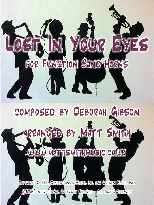 Lost In Your Eyes by Debbie Gibson - Function Band Horn Section