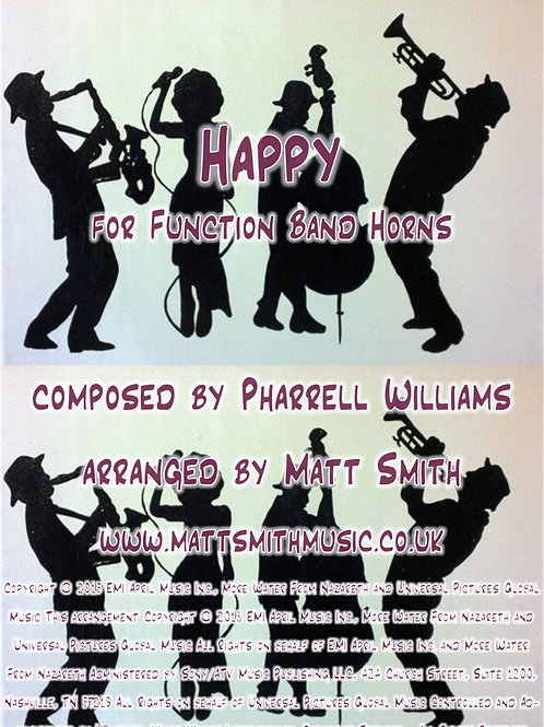 Happy by Pharrell Williams - Function Band Horn Section