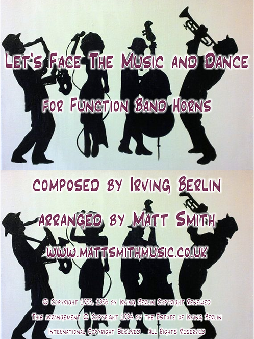 Let's Face The Music And Dance by Irving Berlin - Function Band Horn Section