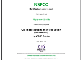 NSPCC Child Protection Course