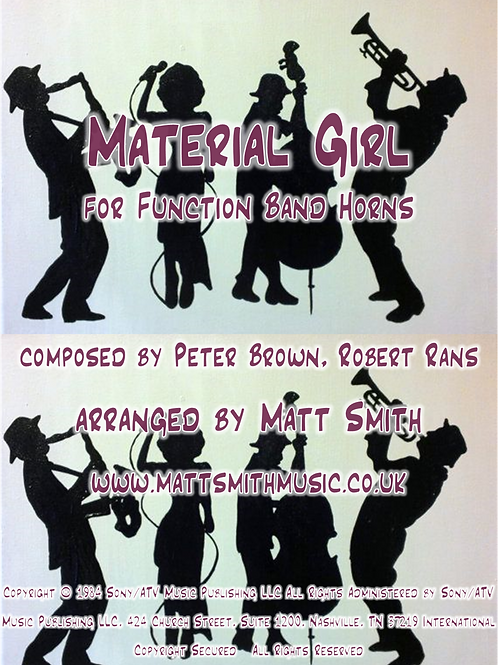 Material Girl by Madonna - Function Band Horn Section