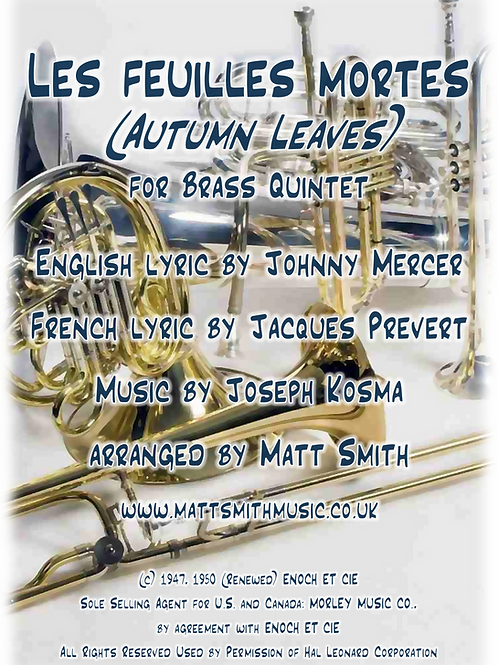 Autumn Leaves by Joseph Kosma - Brass Quintet