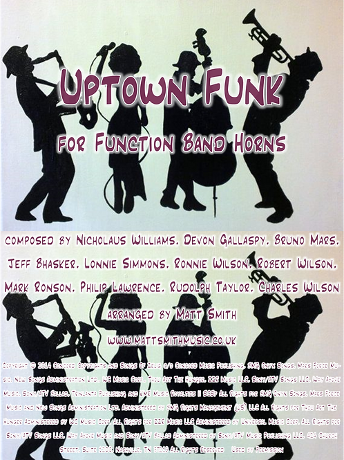 Uptown Funk by Bruno Mars - Function Band Horn Section