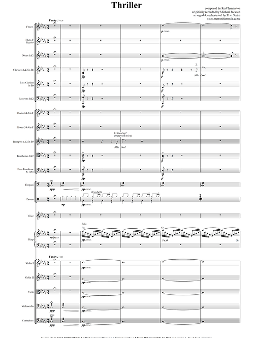 Thriller by Michael Jackson - Orchestra with Voice