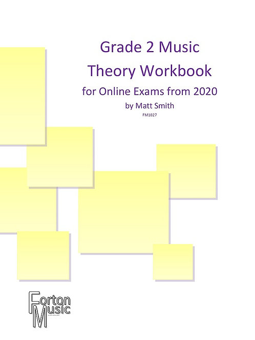 Grade 2 Music Theory Workbook by Matt Smith - PDF VERSION
