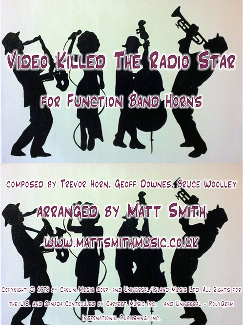Video Killed The Radio Star by The Buggles - Function Band Horn Section