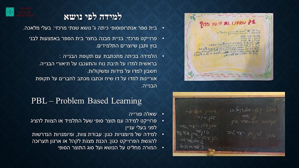 PBL ולמידה לפי נושא