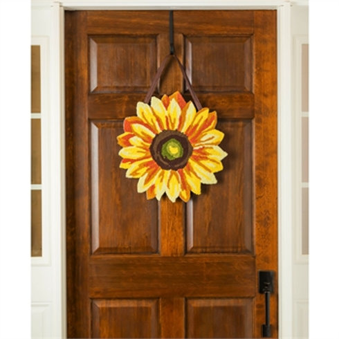 Sunflower Hooked Door Décor