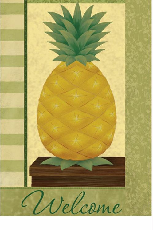 Welcome Pineapple Garden Flag