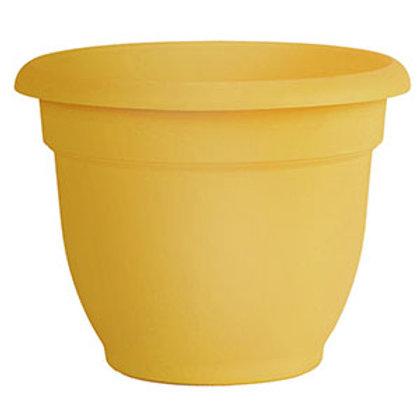 "10"" Yellow Plastic Planter"