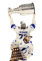 Victor Hedman with the Stanley Cup/Conn Smythe - 2020