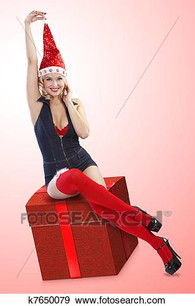 sexy-christmas-pinup-girl-stock-photo__k
