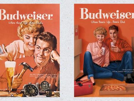 Budweiser recria seus anúncios dos anos 50 para os dias atuais