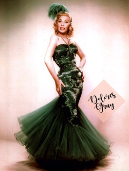 Dolores-Gray-in-green-vintage-evening-go