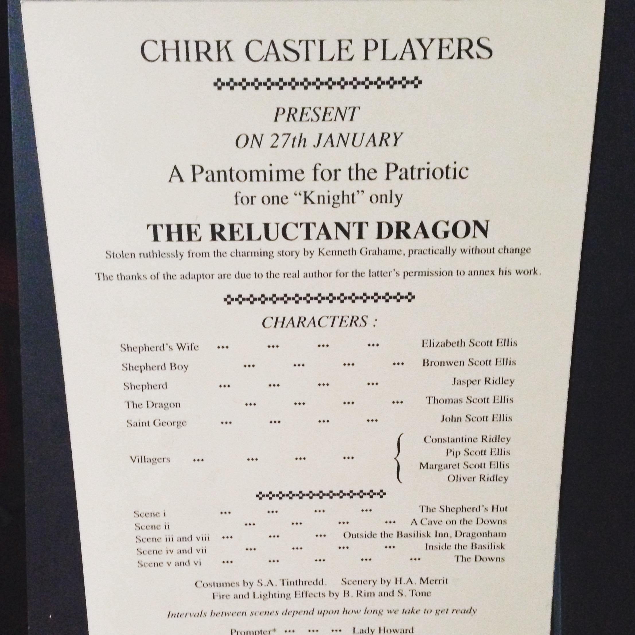 Original programme of RD