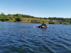 Lynn Carthew - Float tubing at Kennick