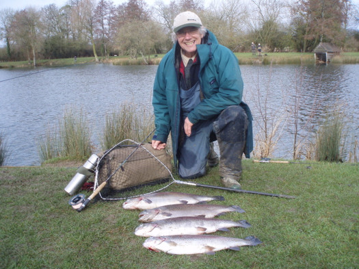 Mike Boston with a Lechlade limit