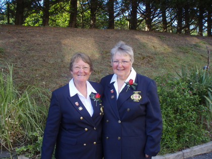 England Ladies Janet Till and Heather Lamacraft