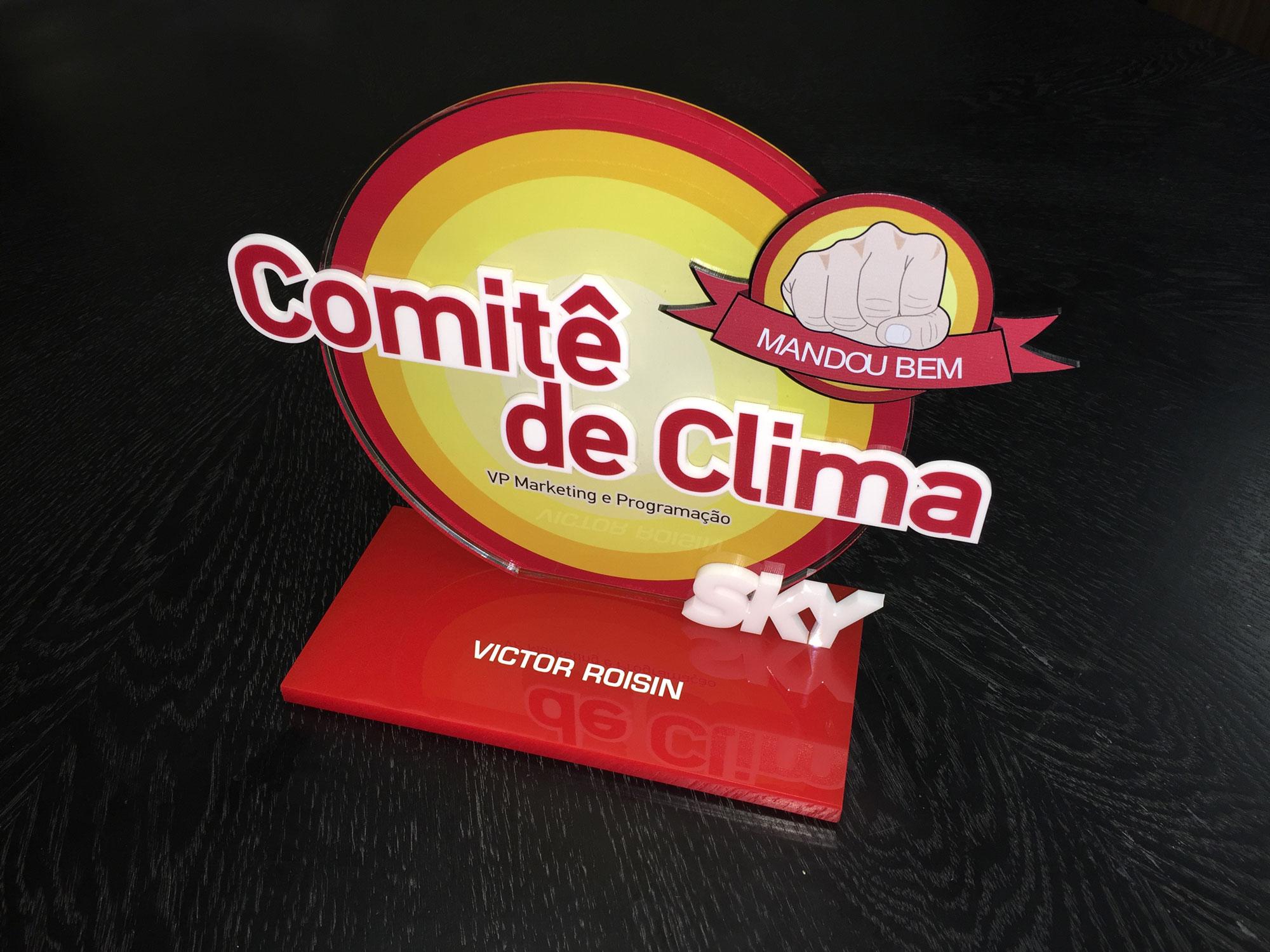 Troféu Personalizado em Acrílico