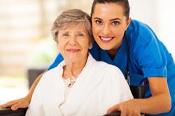 Nurse and Elderly Wheelchair