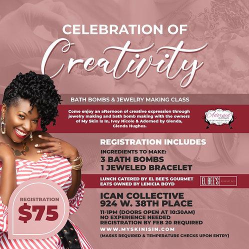 Celebration of Creativity: Bath Bomb & Jewelry Making Class
