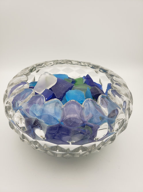 Glass Bowl of Sea Glass