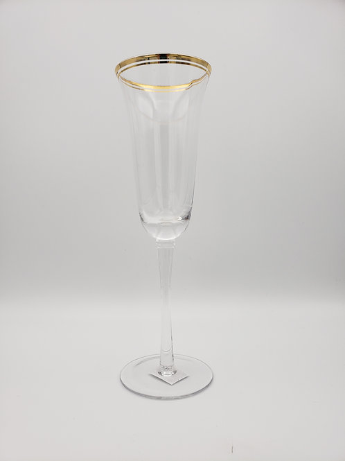 Gold Rimmed Champagne