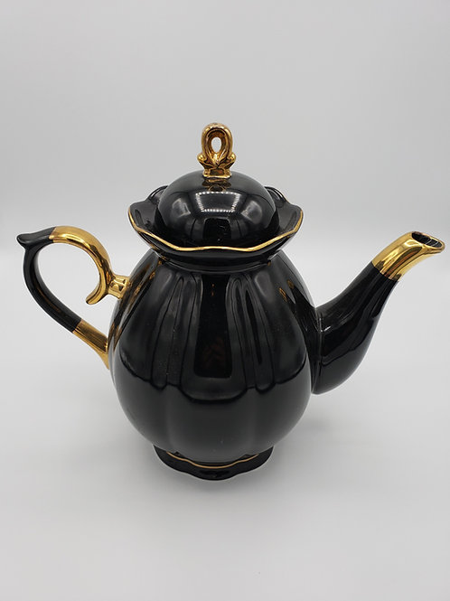 Black & Gold Tea Set