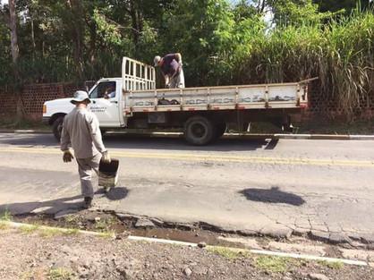 Material doado garante retomada da Operação Tapa-buracos em Paulínia