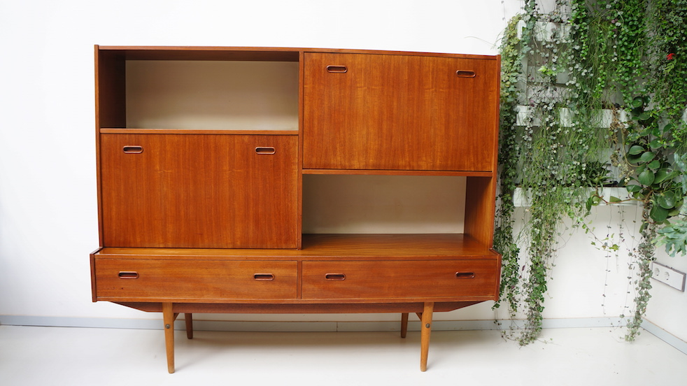 Teak houten highboard