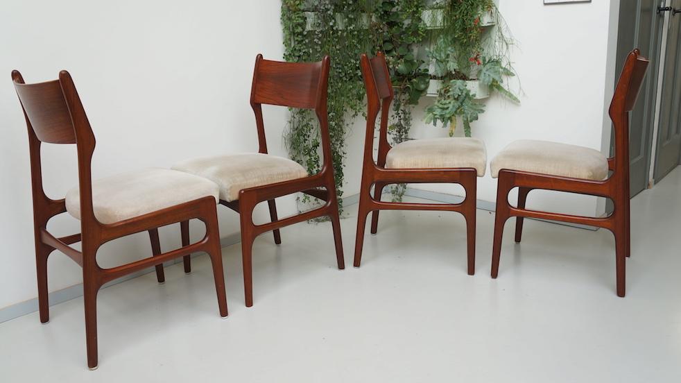 Mahonie houten stoelen