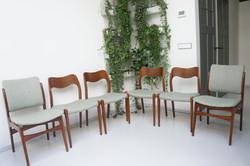 Deense J.L. Moller stoelen set