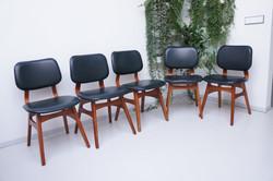 Vintage stoelen donkergroen