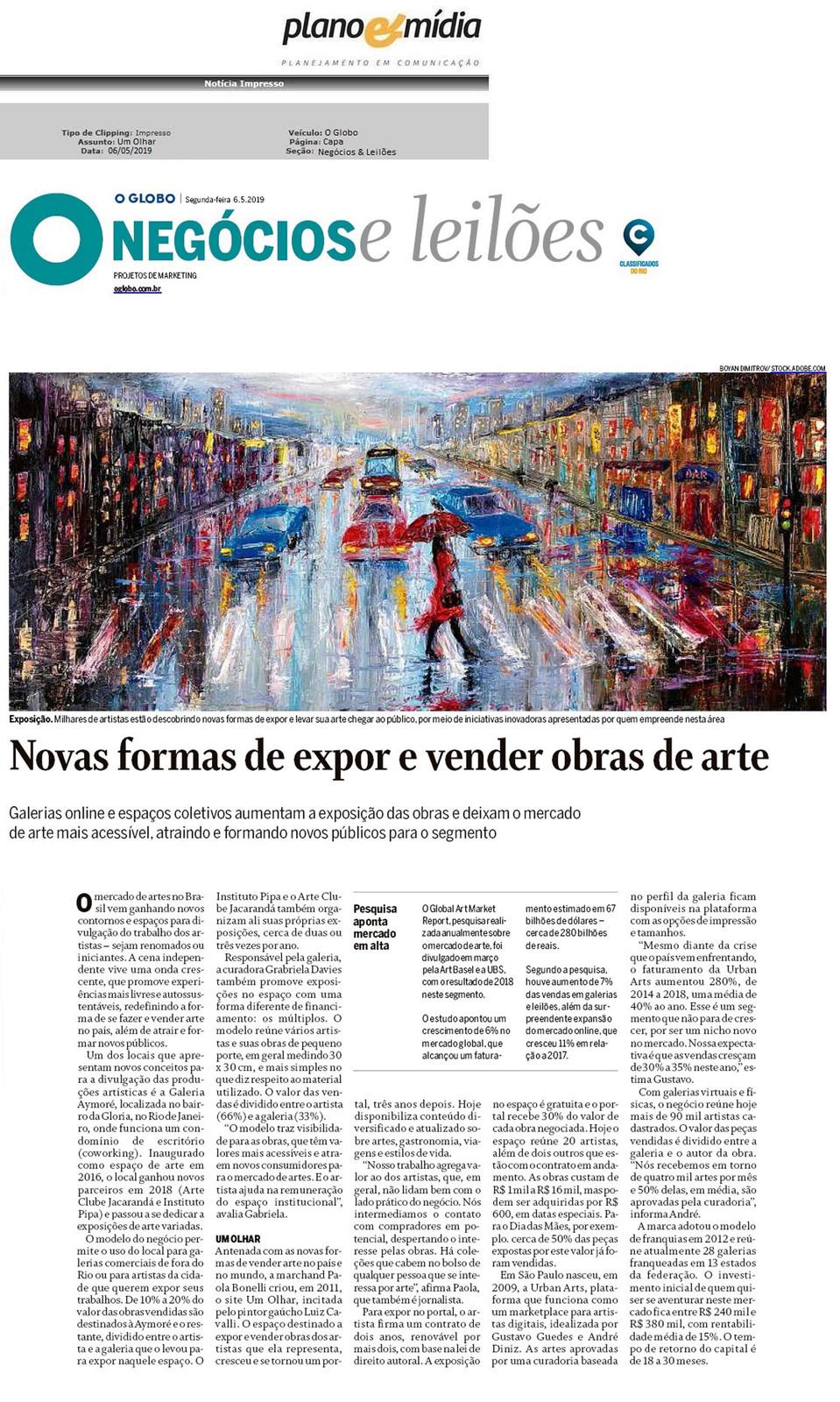 O Globo Negócios Leilões 6 05 2019