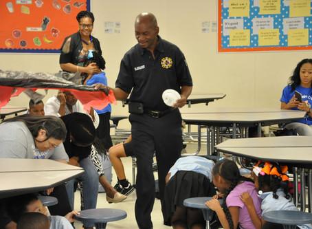 Firefighters visit Ms. Applebaum's class