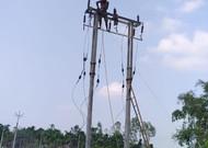শিলডাঙ্গা বাজার সংলগ্ন এলাকায় 33000 ভোল্টের, কাজ চলছে কোনরকম নিরাপত্তা ব্যবস্থার তোয়াক্কা না করে।
