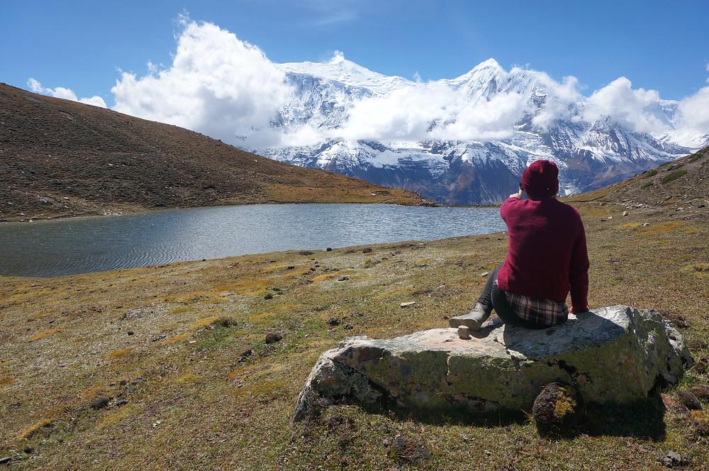 kicho ice lake manang nepal