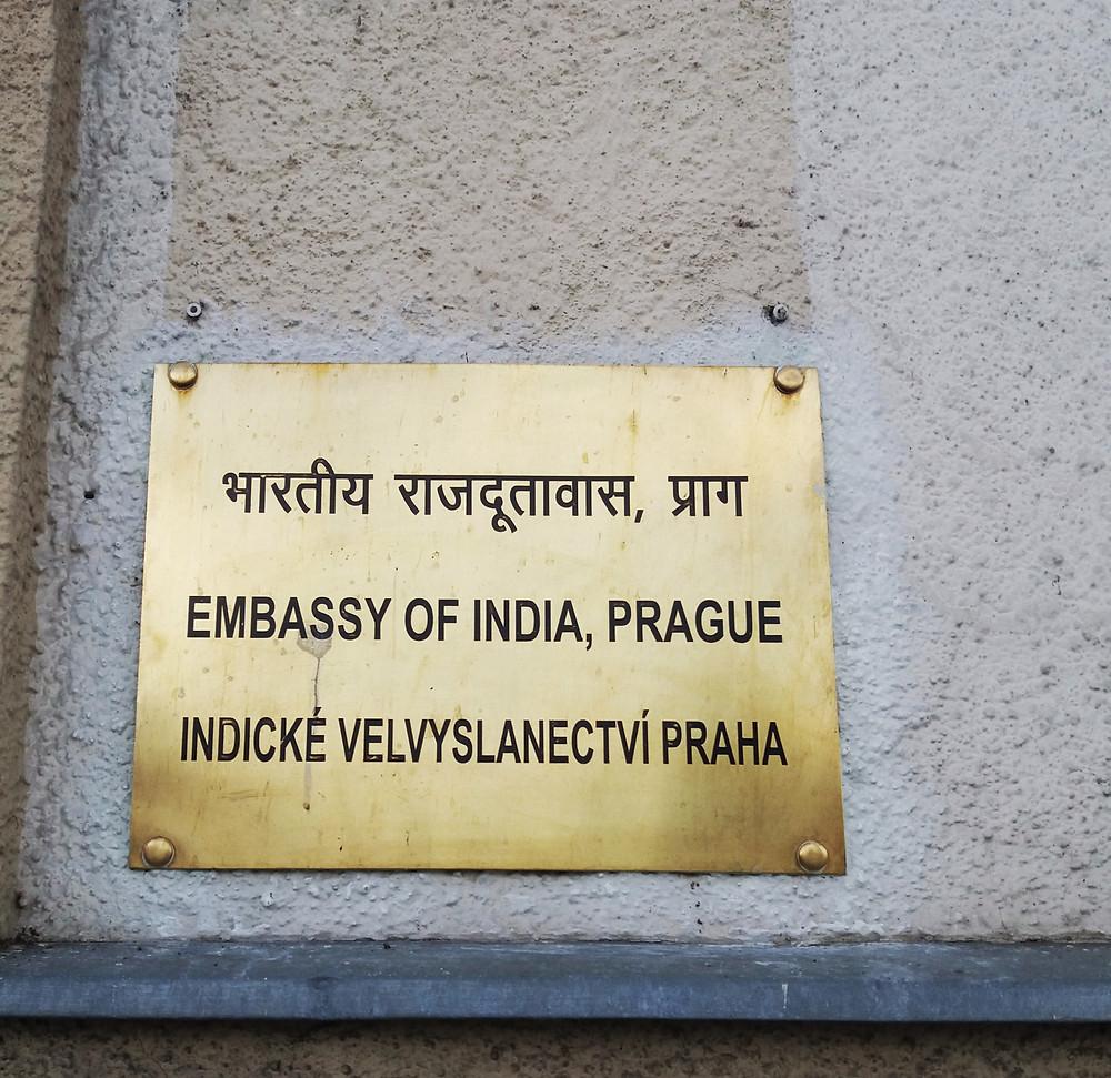 indické velvyslanectví ambasáda