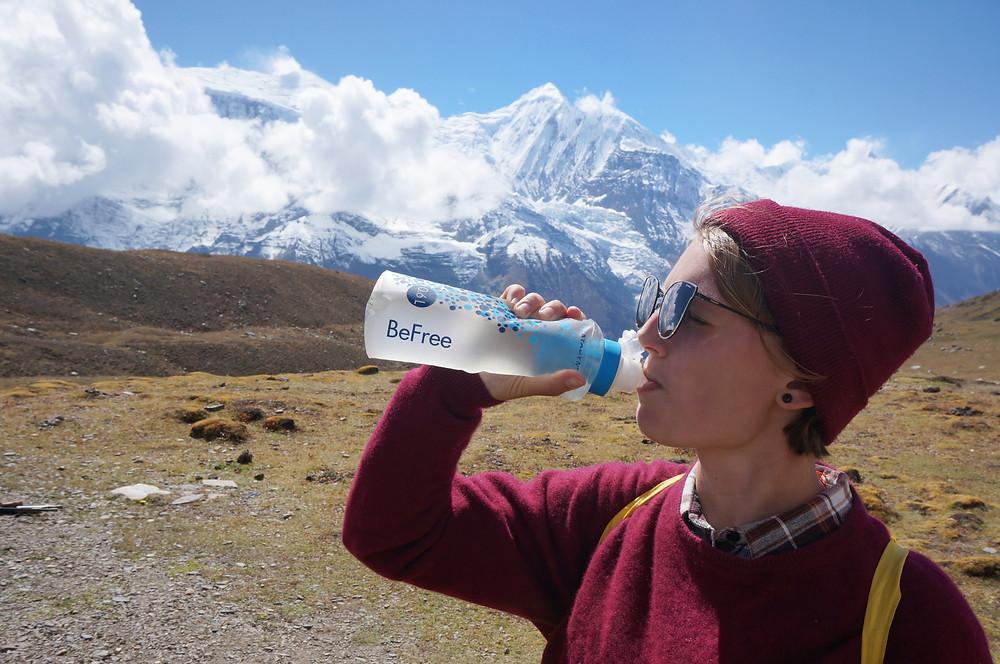 Katadyn BeFree affekt.cz kicho lake manang nepal