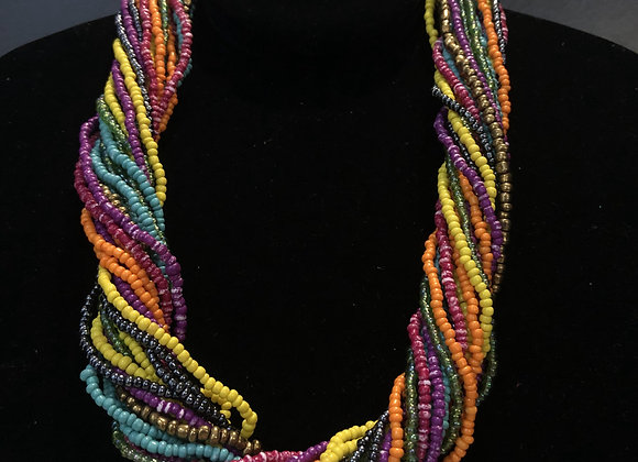 Multi-Twisted Bead Necklace