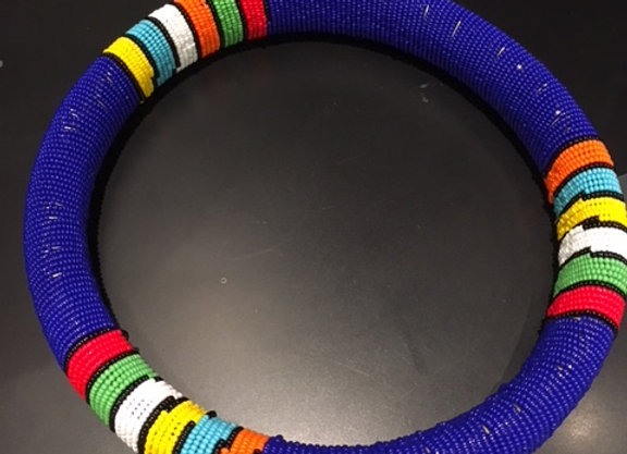 Blue Beaded Zulu Necklace
