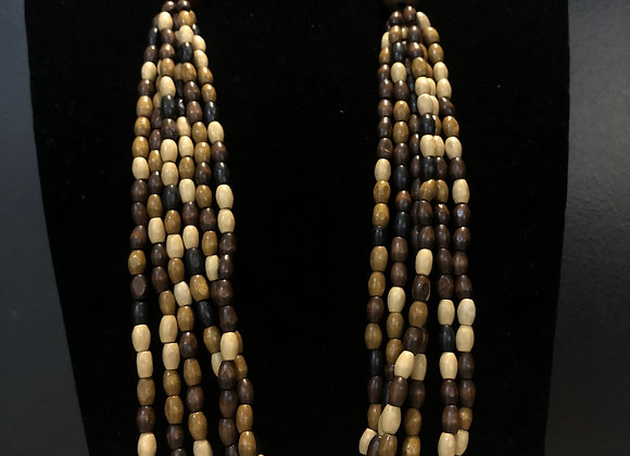 Long Layered Small Beaded Necklace