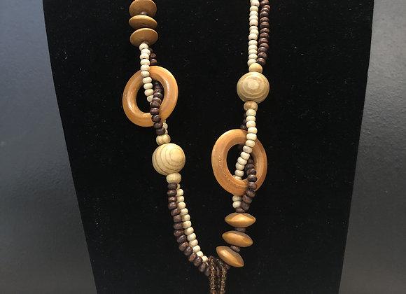 Liberian Lip Wood Necklace