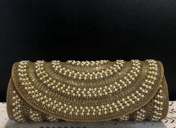 Gold & Pearl Clutch