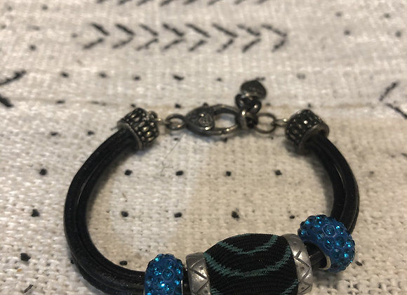 Stone/Fabric Bracelet