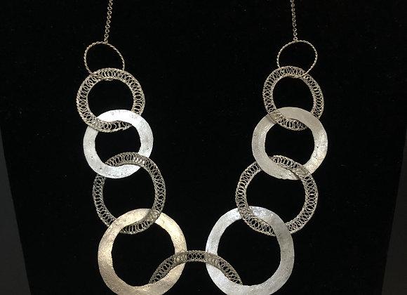 Silver Disco Necklace