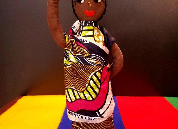 Rwanda Doll W/ Basket