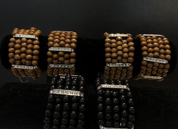 Wooden Bling Bracelet